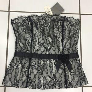 New Arrival✨Ann Taylor Black Lace Bustier